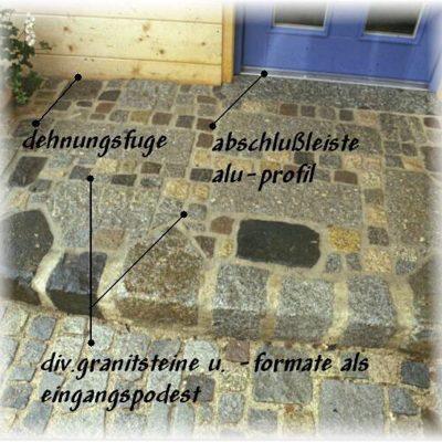 weg pflastern altdorf
