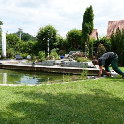 neuer Gartenteich -3